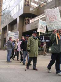 Emergency Picket in Response to death of  Canadian Soldiers in Afghanistan. March 6 2006.